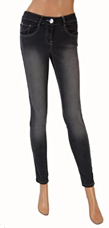 Matalan Ladies Super Skinny Jeans Faded Black (12): Amazon.co.uk