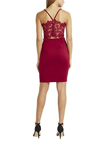 Kleid mit Lipsy Rot Damen Muschelkante aus Bodycon Spitze q8xOwXEU