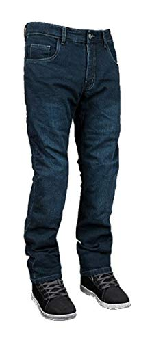 Street & Steel Oakland Protective CE Armor Aramid Fiber Boot Cut Stretch Denim Street Bike Motorcycle Riding Jeans - Dark Blue 30