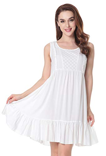 N NORA TWIPS Womens Nightgown Sleeveless Scoop Neck Sleep Dress -