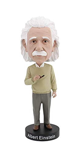 Royal Bobbles Bobblehead of Albert Einstein, Collectible Bobblehead Figurines, Science Gifts -