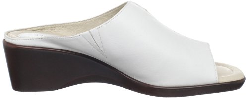 David Tate Womens Gloria Slide Bianco Agnello
