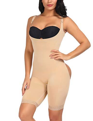 Lover-Beauty Invisible Bodysuit Slimmer Body Shaper Seamless Shapewear Waist Trainer Beige 3XL