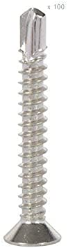Stainless Steel Pure SELF Drilling Screw 8 X 32 100PCS.