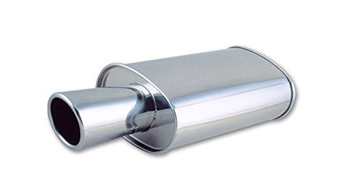 Vibrant 1046 StreetPower Oval Muffler with Tip