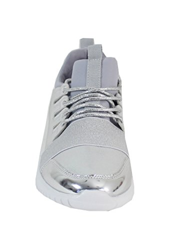 Vernis Basket By Shoes Style Femme Running Silver 0vwCIwxq