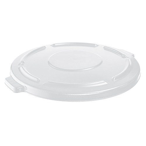 Rubbermaid Commercial FG264560WHT BRUTE Heavy-Duty Round Waste/Utility Container, 44-gallon Lid, White ()