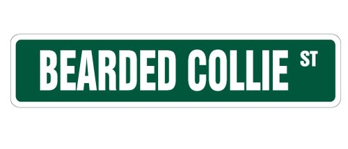 [SignJoker] BEARDED COLLIE Street Sign collectable dog lover great gift idea Wall Plaque Decoration