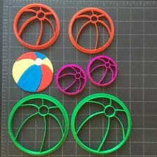 Beachball Cookie Cutter/Fondant Cutter/Cupcake Topper (Size 2, 3 and 4 Inch Set)