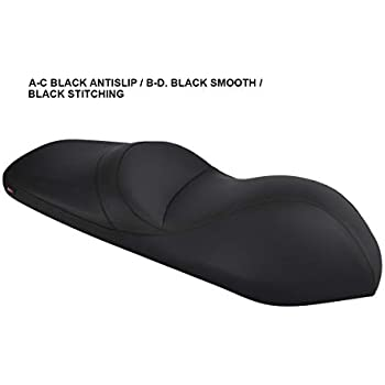 Kymco Downtown 300i seat Cover Black-Blue Stitching