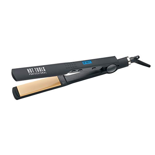 Hot Tools Professional 1 1/4 Inch Nano Ceramic Digital Salon Flat Iron - Wide Plates Model No. HT7115F