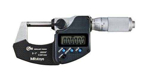 Mitutoyo 293-348-30CAL Digimatic Micrometer with Calibration, 0-1