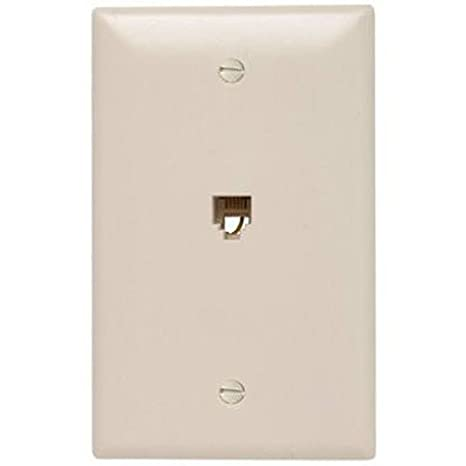 Legrand - Pass & Seymour TPTELTVWCC10 Coaxial Connector Wall Plate One Rj11 Jack and One Cable TV F Connector, White Pass & Seymour/Legrand