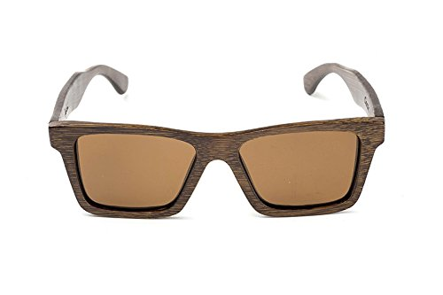 Swell Vision Classic Brown Bamboo Sunglasses with Amber Polarized ()