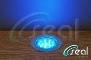 """LED Deck Lights - Pack of 10 - Blue - Includes all wires and plug in transformer - Recessed Wood Decking Yard Garden Patio Stairs Landscape Outdoor Flush Mount 2-3/8"""""""