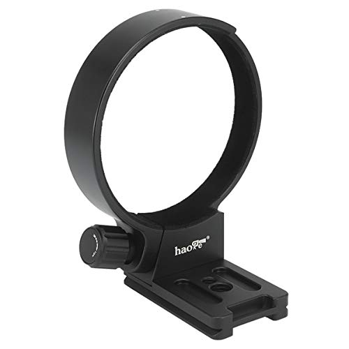 Haoge LMR-SM140 Lens Collar Replacement Foot Tripod Mount Ring Stand Base for Sigma 100-400mm f/5-6.3 DG OS HSM Contemporary Lens Built-in Arca Type Quick Release Plate