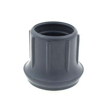 4 x Z-Tec 29 mm 2 conteras de goma gris para andador