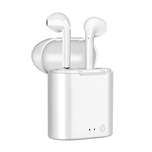 Campingmoon Bluetooth Headphones Wireless Earbuds Mini Earphones in-Ear Stereo Sound Noise Cancelling 2 Built-in Mic Charging Case Compatible All Headsets Devices Sport Ear Buds for All Smart Phone