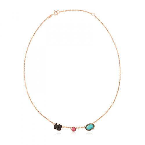 TOUS Motif Onyx, Rhondonite and Amazonite Necklace ()