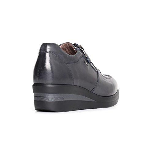 Nero Giardini Chaussures Sneaker Femme En Cuir Bleu A719203d200