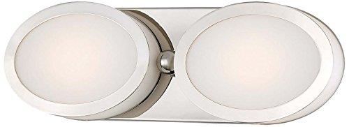 - Minka Lavery 2902-613-L Pearl LED Bath Art Lamp, Polished Nickel Finish