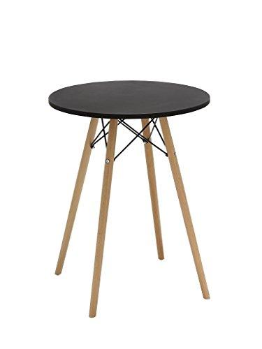 Esstisch Tisch aus Holz Esszimmertisch rund TYP 9-220 SCHWARZ Bistrotisch Küchentisch Design