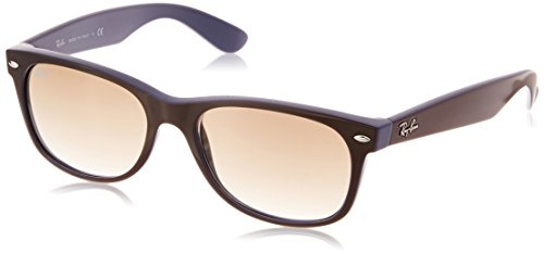 Ray-Ban RB2132 New Wayfarer Sunglasses, Brown On Blue/Brown Gradient, 55 mm