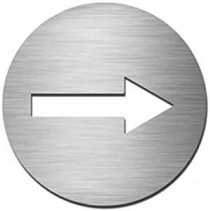 Pictogramme Rond Direction Papier Peint Autocollant Pour Porte Motif En Acier Inoxydable V4a Amazon Fr Bricolage