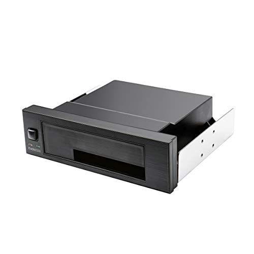 WDX Universal Hot Swap Mobile Rack for 2.5 inch or 3.5 inch SSD/HDD, Internal Tray-Less SATA Hard Drive Backplane Enclosure, Support SATA I/II/III & SAS I/II 6Gbps