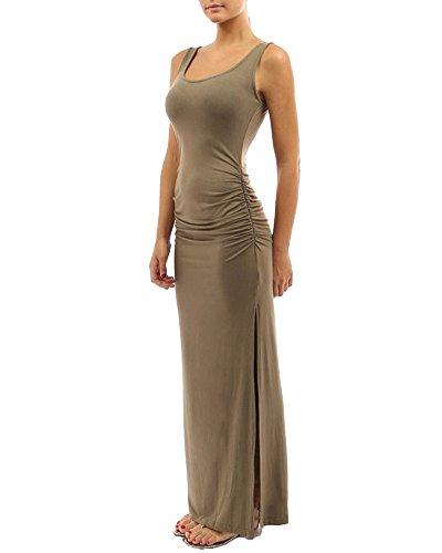 Donna Elegante Vestiti Abito Lunghi Vestito Formale Banchetto Sera Albicocca