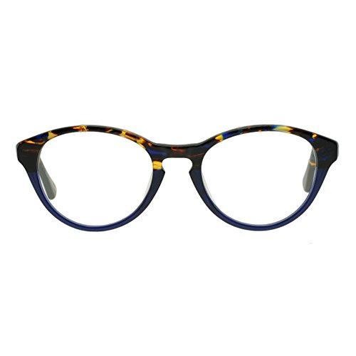 OCCI CHIARI Rectangle Stylish Eyewear Frame Non-prescription Eyeglasses With Clear Lenses Gifts for Women (Blue, - Blue Plastic Frames Eyeglass