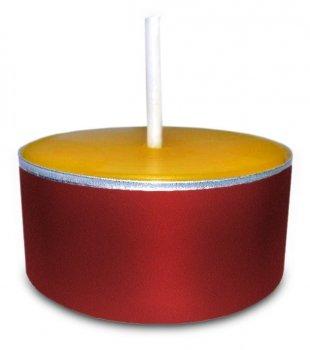 Teelichter aus 100% Bienenwachs in roten Aluhüllen 48 Stück