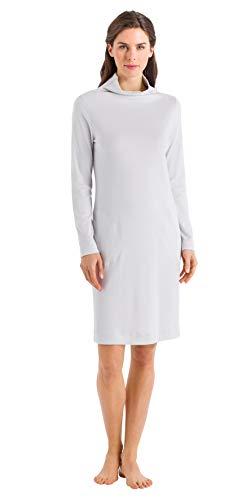 HANRO Women's Liara Long Sleeve Gown, Shell Medium