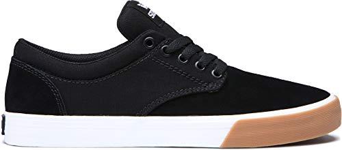 (Supra Unisex Chino Skateboarding Sneakers Shoes, Black-White/Gum, Size 11)