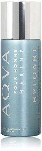 Bvlgari Refreshing Body Spray for Men, Aqua Marine, 5.07 Ounce ()