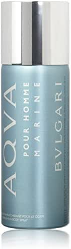 Bvlgari Refreshing Body Spray for Men, Aqua Marine, 5.07 Ounce