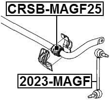 D25 For Chrysler Stabilizer// Sway Bar Bushing 04782681Ab FRONT