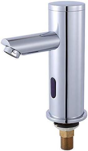 [スポンサー プロダクト]Nurisi 自動水栓 センサー水栓 単水栓 シングルレバー水栓 電磁弁内蔵設計 自動赤外線検知 銅合金製蛇口 余分な外部アクセサリがない 標準インターフェイスG1/2インチ (バッテリーを含まなく、別途購入する必要があります)GY8813(単水栓)