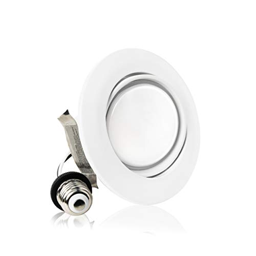 Parmida (1 Pack) 4 inch Dimmable LED Adjustable Gimbal Eyeball Retrofit Recessed Downlight, 10W (65W Replacement), Directional Swivel Can Lighting Trim, 650lm, Energy Star & ETL, 5000K (Day Light) by Parmida LED Technologies (Image #6)