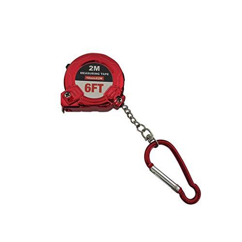 Tape Measure, CCatyam, Measuring Ruler Key Chain, Retractable Portable Mini Pocket Metric Imperial 2 Meters Stanley (1PC Retractable Tape Measure, Red)