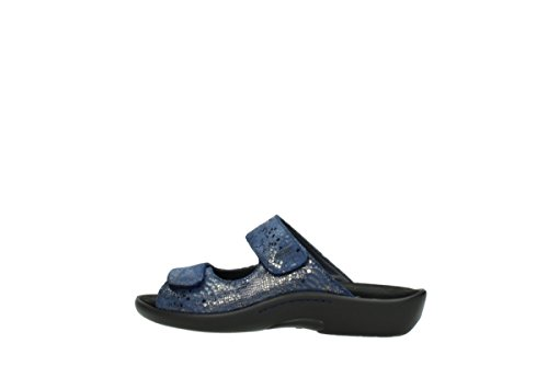 Wolky 60800 Nepeta Snakeprint Comfort Leather Blue PZxqawHP