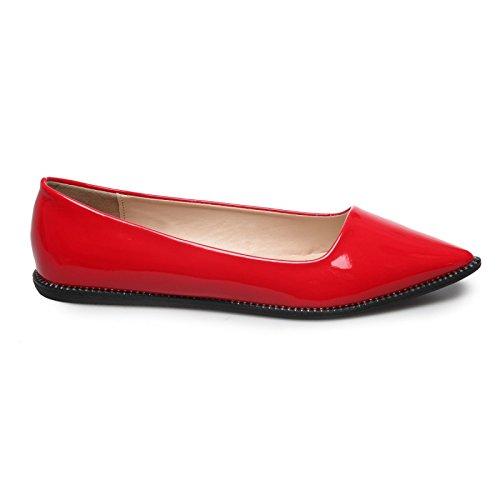 La Modeuse planas barnizado-Bailarinas Rojo - rojo