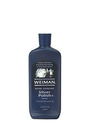 Weiman Royal Sterling Silver Polish, Tarnish Preventing, 8-Ounce Bottles (Pack of 6) by Weiman