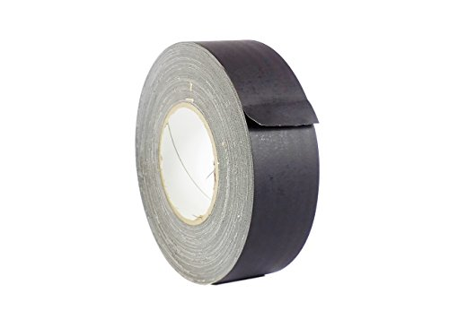 WOD CGT-80 Black Gaffer Tape Low Gloss Finish Film, Residue Free, Non Reflective Gaffer, Better than Duct Tape (Available in Multiple Sizes & Colors): 1/2 in. X 60 Yards (Pack of 1) ()
