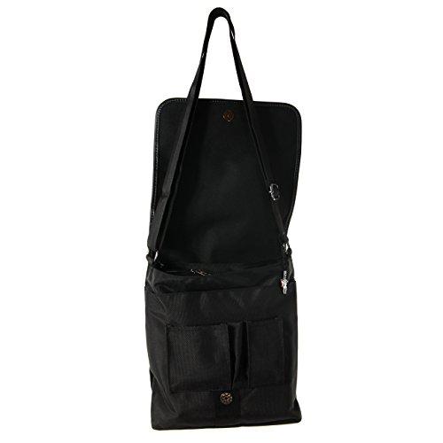 New Bags Umhängetasche Schultertasche Crossover Polyester schwarz OTD211S