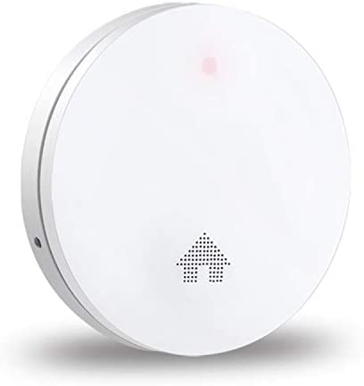 Ecoey Smoke Detector, 10 Year Smoke Alarm with Built-in Battery and Ambient Light Detection and Fault Indication, Ultra-Thin Fire Safety with Self-Test and Big Press Button for Home, FJ146, 1PACK