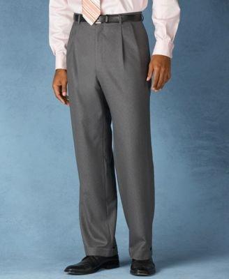 Lauren Ralph Lauren Wool Double-Reverse Pleated Dress Pants. Charcoal (34W 34L)