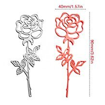 Enipate Rose Garden Scrapbook DIY album Card Paper Card Maker Metal Die Cut Stencil Decoration dies Craft Cutting Dies (Halloween Pumpkin Cupcakes Pictures)