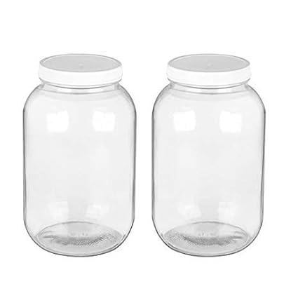 Amazoncom Encheng 1 Gallon Glass Jar With Lidswide Mouth Mason