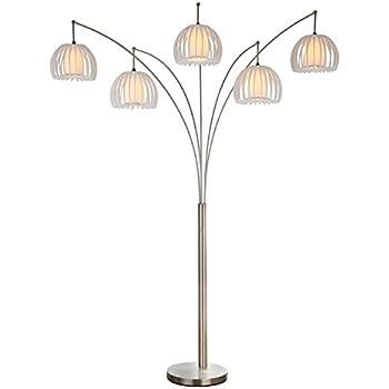 Artiva Usa Led612218fsn Zucca 5 Arch Steel Led Floor Lamp
